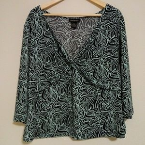 Lane Bryant twist accent top